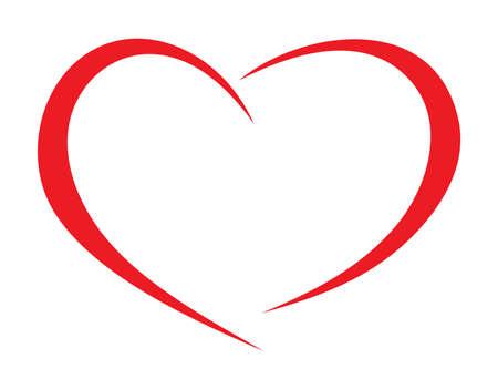 Coeur rouge Vecteurs