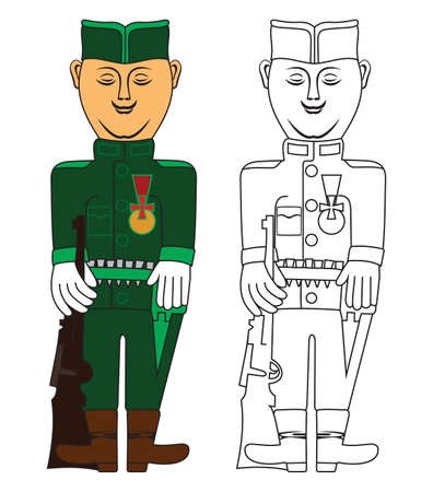 serbia: Traditional serbian soldier Illustration