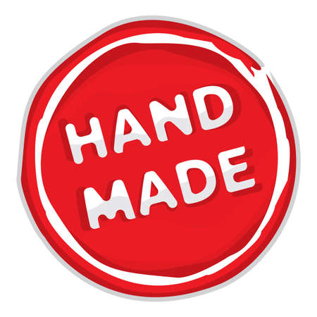 hand made: Rubber stamp hand made
