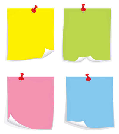 yellow note: sticky notes Illustration