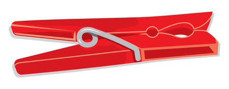 clothes peg: Illustration of clothespin