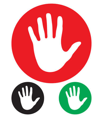 finger signals: stop hand sign
