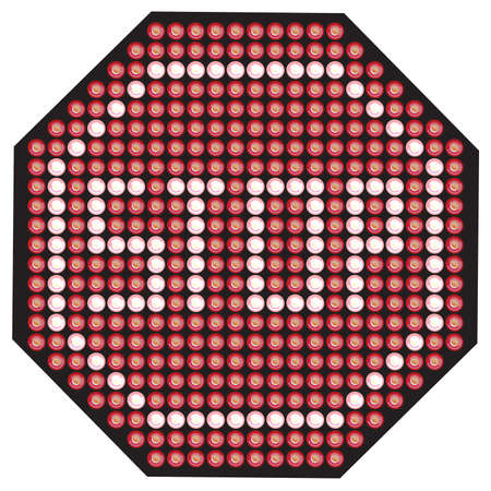 LED Stop sign Stock Vector - 18661764