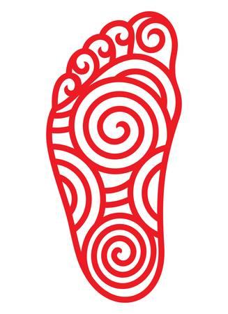 foot step: foot symbol Illustration