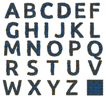 Jeans alphabet isolated photo