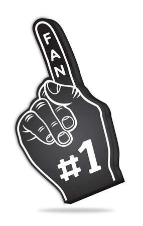 3d foam finger - fan finger Stock Photo - 18874736