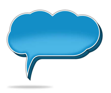 cloud speech bubble Stock Photo - 18874733