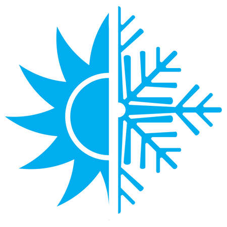 chaud froid: Ic�ne de climatisation Illustration