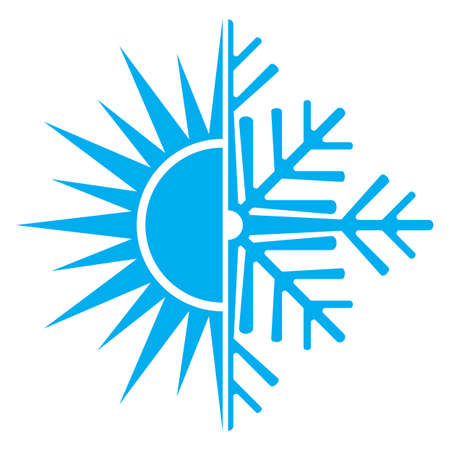 fresh snow: air conditioning icon Illustration