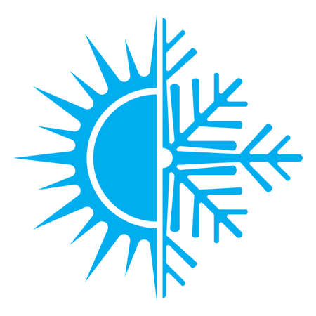 hot temperature: air conditioning icon Illustration