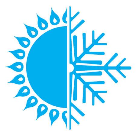 hot temperature: Icono de aire acondicionado