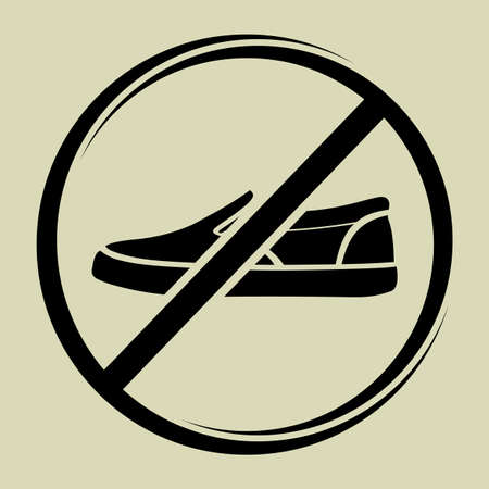 No shoes sign Stock Vector - 19221916
