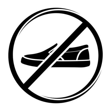 no trespassing: No shoes sign