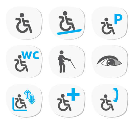 wheelchair access: disabled people signs