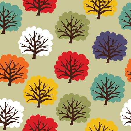 Seamless tree pattern Stock Vector - 19134305