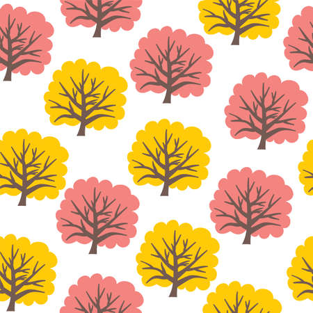Seamless tree pattern Stock Vector - 19134297