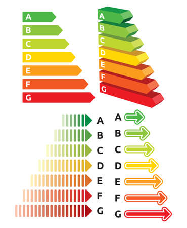 Energy efficiency rating Stock Vector - 19193102