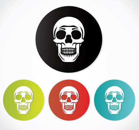 Skull icons - danger sign Stock Vector - 19260695