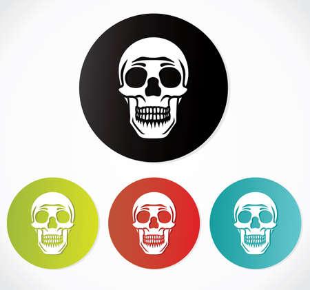 Skull icons - danger sign Stock Vector - 19260695