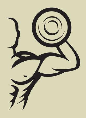 testépítő: Testépítő Illusztráció
