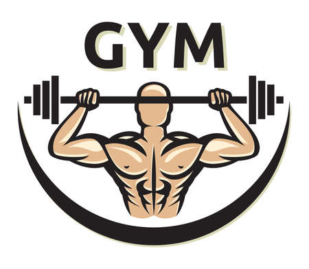 GYM icon - Bodybuilder Vector