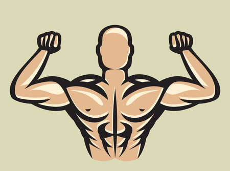 Bodybuilder Stock Vector - 19193557