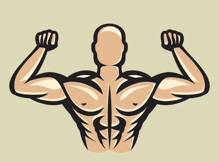 Bodybuilder Stock Vector - 19193557