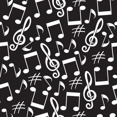 the first love: fondo musical de las notas Vectores