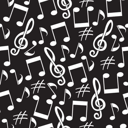musical background from notes Stock Vector - 19159187
