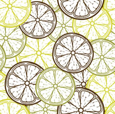 Lemon seamless pattern Vector