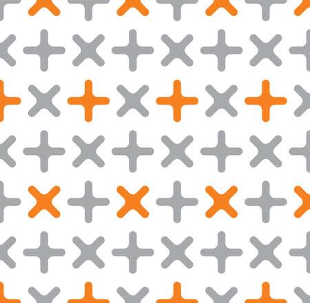 addition symbol: Cross pattern