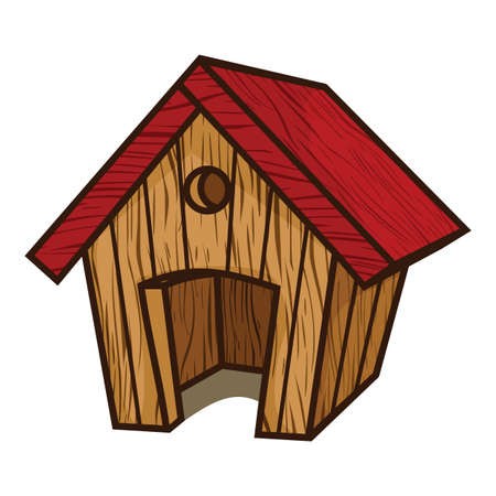 Dog House Illustration Vector