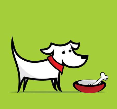 hueso de perro: Perro con el hueso