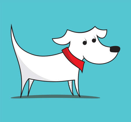 dog eating: Dog illustration Illustration