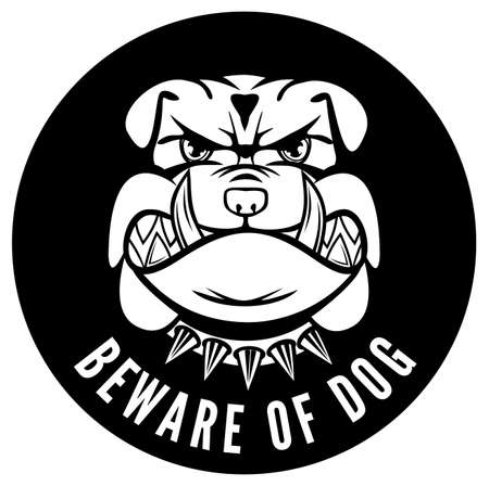 growling: Beware of dog sign