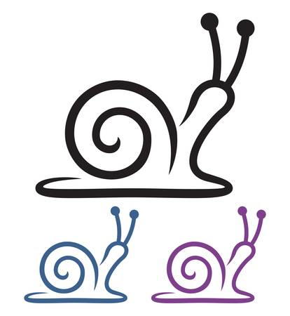 snail cartoon Stock Vector - 19159183