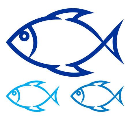 fish symbol Stock Vector - 19159199