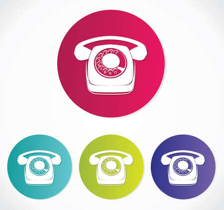 old phone icons Stock Vector - 19159307