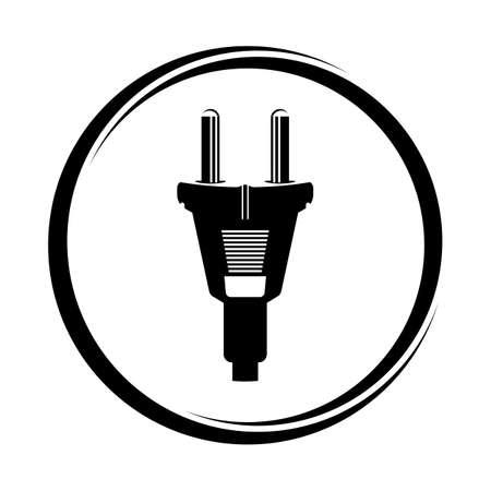 power plug - cord icon Stock Vector - 19159214