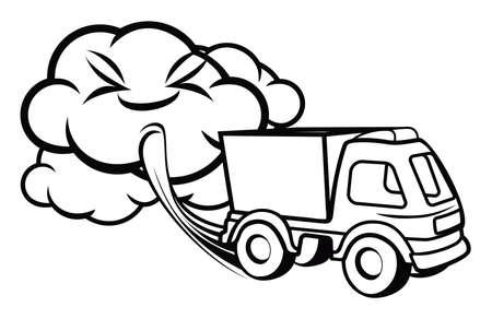 camion caricatura: Escape de camiones