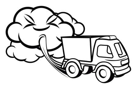 air pollution: Truck exhaust