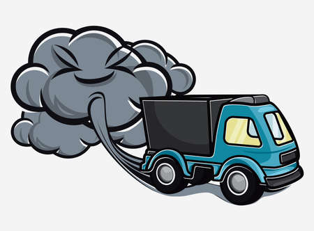 polluting: Truck exhaust
