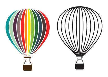 luftschiff: Hei?uftballon Illustration