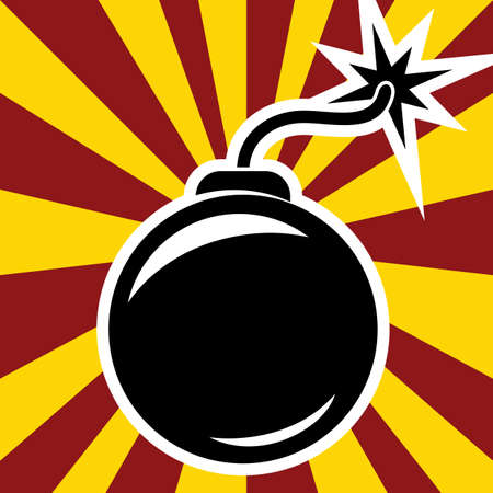 threat of violence: retro bomb Illustration