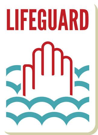 lifeguard sign Stock Vector - 20504305
