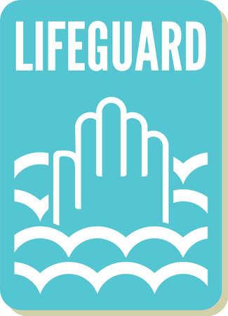 lifeguard sign Stock Vector - 20504309