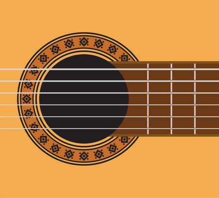 guitar detail - guitar sound hole