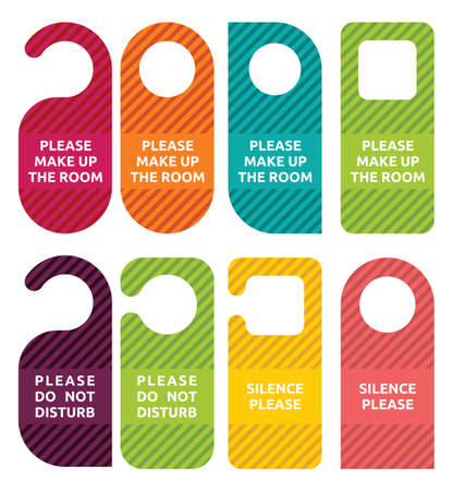 hotel rooms: do not disturb door hanger set