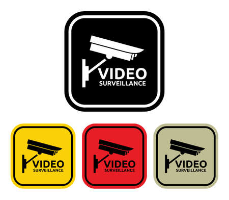 Video surveillance sign Stock Vector - 20504010