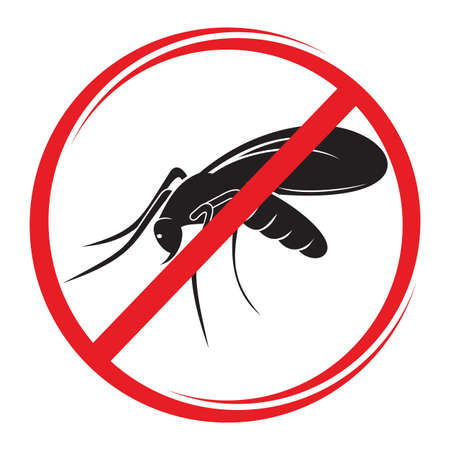 disease carrier: stop mosquito sign